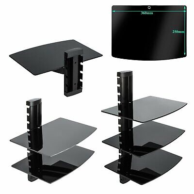 Floating 1/23 Tiers Media Shelves Wall Mount Shelf Rack Stand For DVD TV SKY BOX