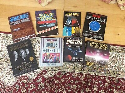 Collection Of Star Trek Related Books Bundle (t4)