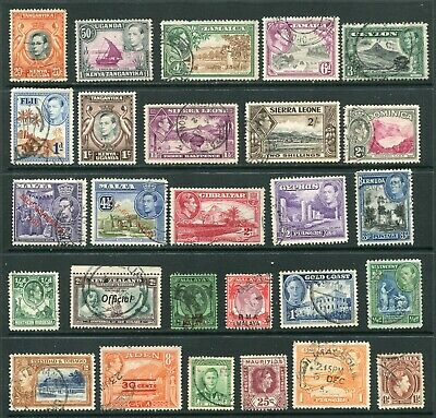 George VI Commonwealth Collection of mixed stamps - as shown (CU027)