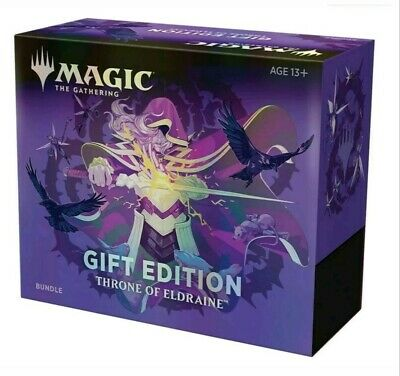 Mtg Magic Throne Of Eldraine Bundle Holiday Gift Edition Box - Collector Booster
