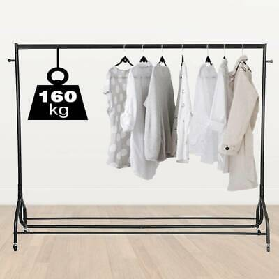 6ft Clothes Rail Rack Garment Coat Hanging Display Stand Shoe Rack Storage Shelf