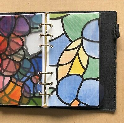Filofax Personal Organiser Planner - Stained Glass Clear Dividers - Laminated