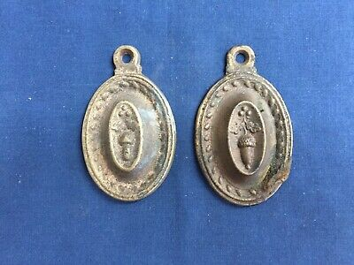 2 Antique Bed Bolt Covers Brass