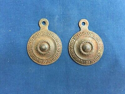 2 Antique Bed Bolt Covers