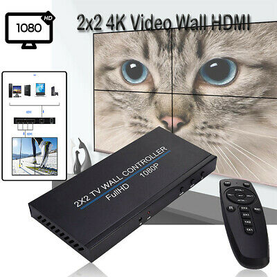 2x2 4K Wall HDMI Processor IP Network PoE HDTV 1080p Controller Splicing Adapter