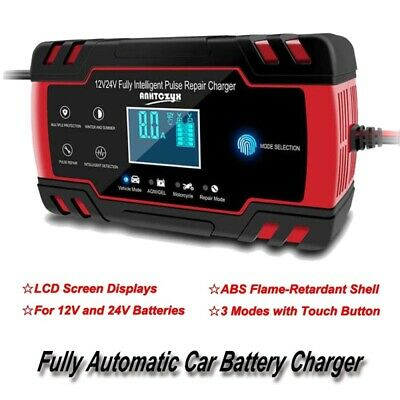 1 Set 12V 8A/24V 4A LCD Touch Screen Battery Charger Smart Fast Charging Charger