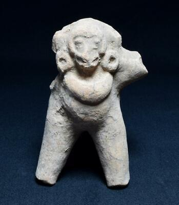 Pre-Columbian Pottery Figure of a Chief or Deity C.1000-1400 A.D.