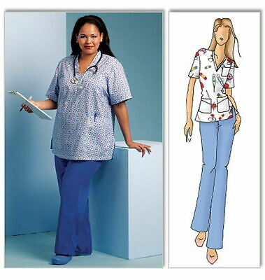 Butterick Pattern B5301 Womens Doctors & Nurses Uniform Scrubs Sz XS-XL & XXL-6X