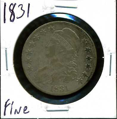 1831 50C Capped Bust Half Dollar in Fine Condition COIN#11
