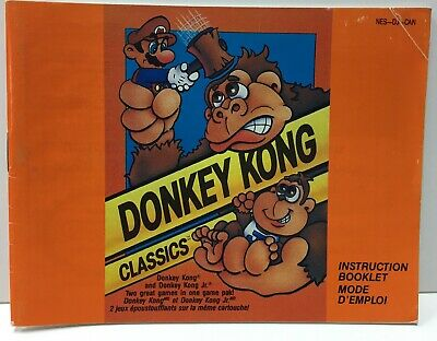 Donkey Kong Classics Instruction Booklet Manual Only for Nintendo NES NTSC