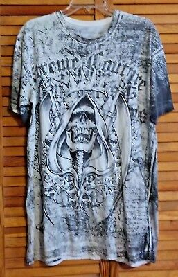 Xtreme Couture Men's T-Shirt By Affliction Xl All-Round Graphics
