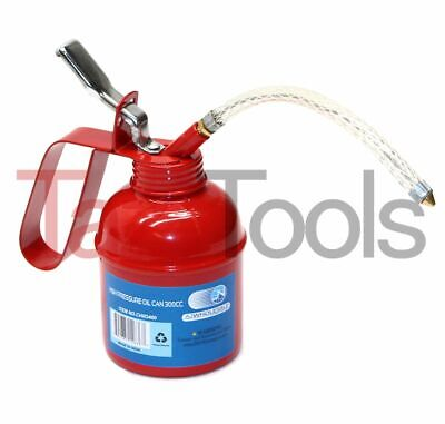 "High Pressure Oiler Pump Hand Thump Pump Oil Can 300 CC Flexible 6"" Spout"