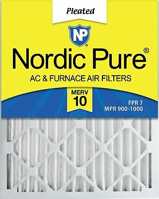 Nordic Pure 16x24x2 MERV 10 Pleated AC Furnace Air Filter, Box of 3 3 PACK New