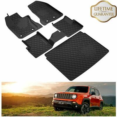 KIWI MASTER All Weather Floor Mats & Cargo Liners Set for 2015-19 Jeep Renegade