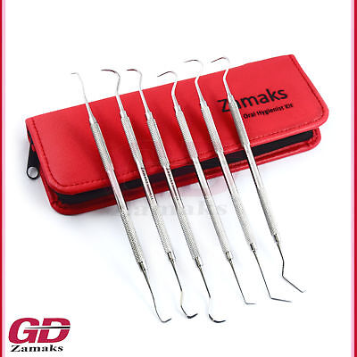 Dental Examination Plaque Remover Kit Tooth Scraper Tooth Cleaner Instruments