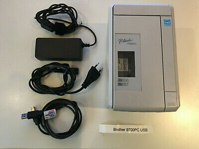 Brother P-Touch 9700PC , USB, incl. 2 x neue Original Tapes 12mm s/w