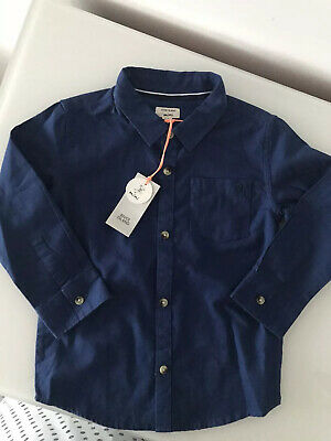 RIVER ISLAND Baby Boys Size 18-24 Months Age 1 2 Blue Shirt Smart Outfit New
