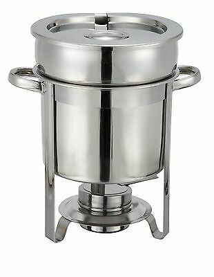 Winco 207, 10.5x10.4x14.3-Inch 7-Quart Stainless Steel Soup Warmer