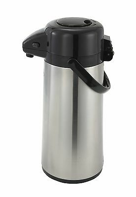 Winco AP-535, 3-Liter Glass-Lined Steel Body Vacuum Server with Push Button