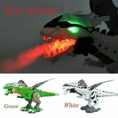 Kids Christmas Gift Walking Dragon Toy Fire Breathing Water Dinosaur Toy Sp W5D1