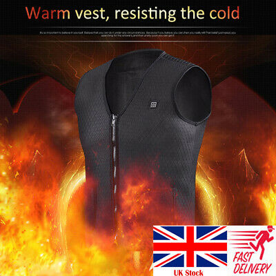 Electric Vest Heated Jacket USB Warm Up Heating Pad Winter Body Warmer Clothing