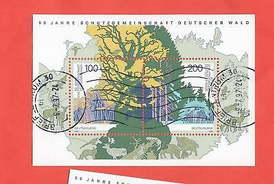 Germany stamps.  1997 Protection of German Forests Sheet used   (C527)