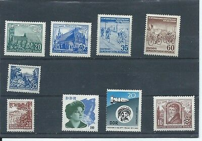 East Germany stamps.  Small MNH/MH lot. 1953 etc.  (C541)