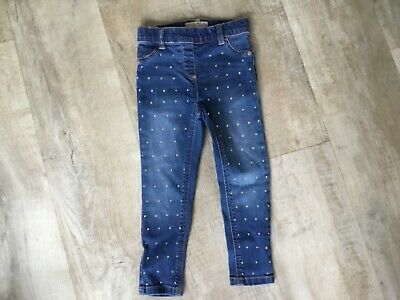 Next  Girls Sparkly Skinny Jeans  Age 4 Years