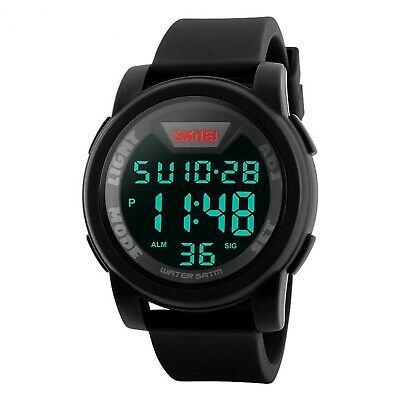 Men's Digital Sports Watch LED Screen Large Face Military Watches, Waterp... New