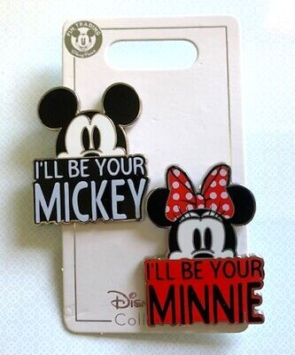 NEW DISNEY PARKS 2019 I'll BE YOUR MICKEY & I'LL BE YOUR MINNIE 2 PIN SET