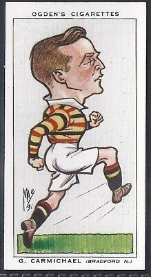 Ogdens-Football Caricatures-#33- Rugby League - Bradford Northern - Carmichael