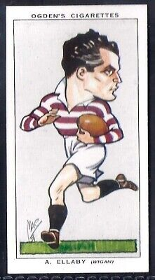Ogdens-Football Caricatures-#37- Rugby League - Wigan - Ellaby