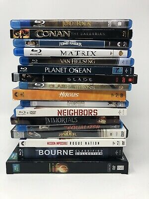 20+ Action Adventure Great Titles Blu Ray and DVD lot bundle Sets FREE SHIPPING