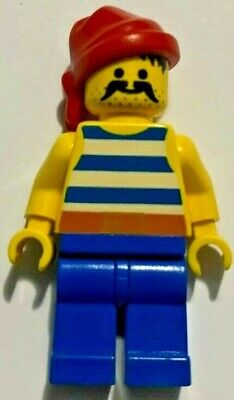 LEGO KC043 Pirate with Striped Shirt and Red Bandana Minifigure Key Chain NEW
