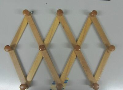 Stick Cloths Hanger a Wall N Wood Natural Extendable 10 Places New