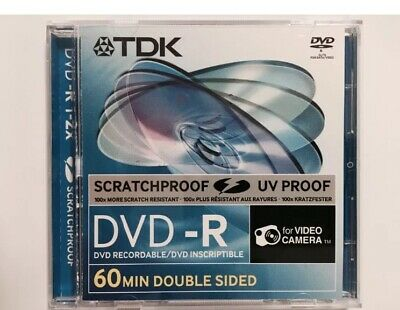 15 Discs TDK Scratchproof 8cm Mini DVD-R 2.8GB DoubleSided 60Min For Comcorders