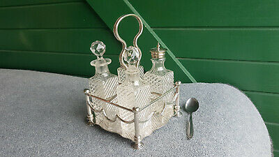 Antique Silver Plated Condimets Set By  W. H. & S.  Really Nice Condition.