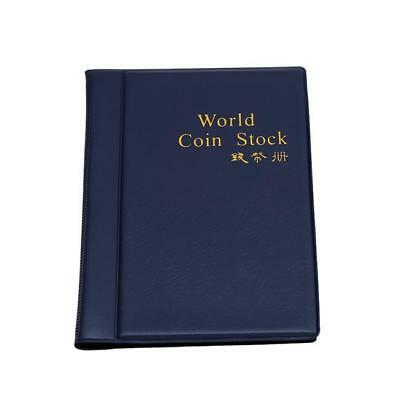120 Coins Collecting Collection Storage Holder Money Penny Album Book Pockets AS