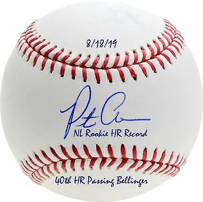 Pete Alonso Signed Ball & Multiple NL Rookie Home Run Record Inscs - LE 20