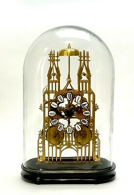 Large English Style Cathedral Crown Escapement Fusee Striking Skeleton Clock