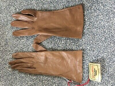 Brand New Pittards Brown Leather Gloves Size 6 1/2