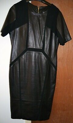 Fantastic So Sexy Black Real Leather Designer Dress Mistress Fetish Domina Cd/Tv