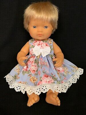 Dolls clothes made to fit 38cm Miniland  Dolls (size Small).  Sleeveless Dress
