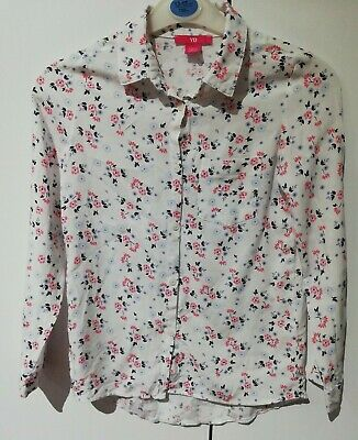 Primark Girls Floral Long Sleeve Shirt Age 9-10 Years Pre-owned
