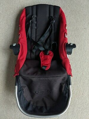 Baby Jogger City Select Second Seat with Harness. Red & Black. Replacement.