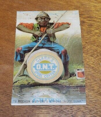 Antique Early Advertising Trade Card pre 1900's Clark's ONT Black Americana Rare