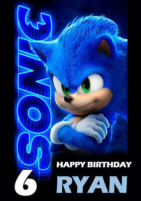 Sonic The Hedgehog Personalised Birthday Card Sega Genesis Tails Personalized 3 65 Picclick Uk