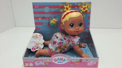 Baby Born Funny Faces Interactive Crawling Doll,sealed in a box,12 months +