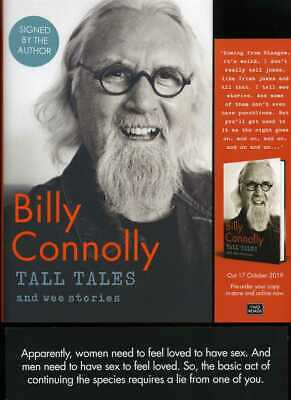 Billy Connolly - Tall Tales and Wee Stories; SIGNED 1st/1st + bookmark