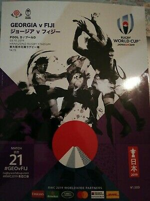 Fiji v Georgia, Osaka, October 2019 Rugby World Cup match programme